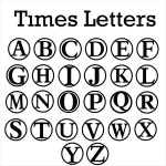 Times New Roman Letters